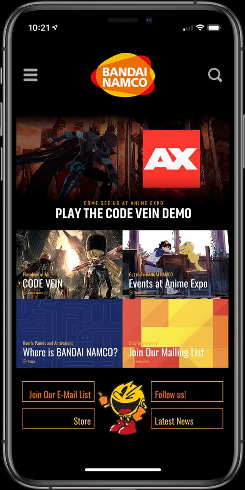 Bandai-Namco Event App
